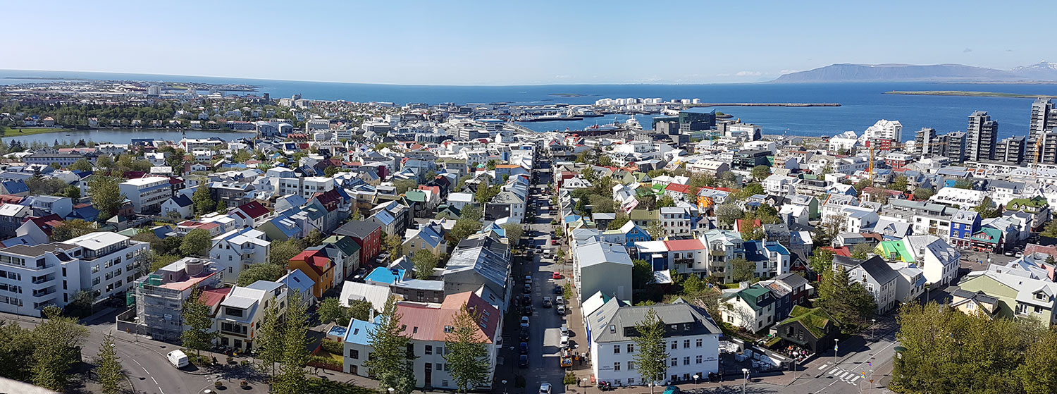 Reykjavik Scenery from Hallgrimskirkja church tower